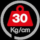 max load 30 [Kg/cm]